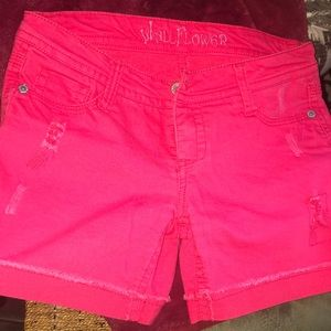 Wallflower Red Shorts